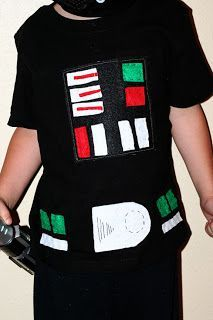Awesome. Now I don't have to search for how it looks. Darth Vader Costume T-shirt | DIY