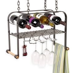 Enclume® Hanging Wine Rack