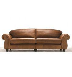Canapé quatre places en cuir MADISON