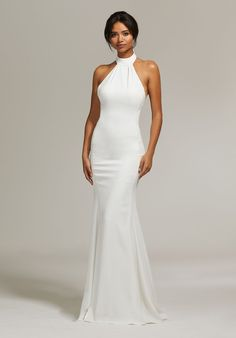 bde1f65a92 Morilee 8301 Rachel Crepe Halter Fitted Wedding Dress