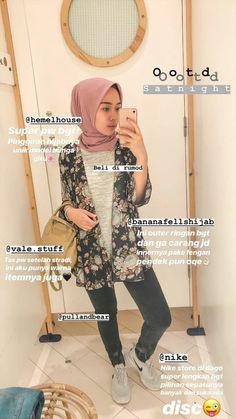 Hijab Fashion Summer, Modern Hijab Fashion, Street Hijab Fashion, Hijab Fashion Inspiration, Muslim Fashion, Ootd Fashion, Fashion 2020, Fashion Outfits, Casual Hijab Outfit
