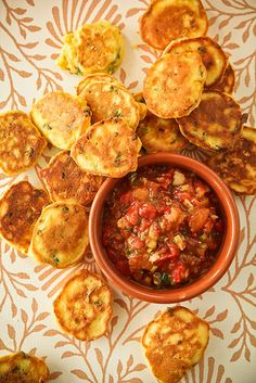 Arepas con Aji Picante - South American Corn Cakes with Hot Sauce   Demuths Cookery School