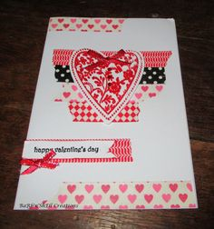 BaRb'n'ShEllcreations  - Washi Tape Valentine's Day cards - made by Shell inspired by http://brandyscards.com/