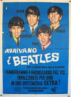 I WANNA HOLD YOUR HAND / THE BEATLES / ROBERT ZEMECKIS / 1978 /  MOVIE POSTER  /