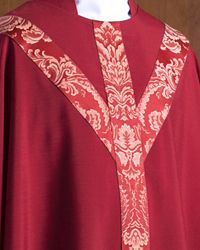 The Holy Rood Guild > Chasubles & Copes > L'étoile Chasuble: red liturgical vestment for priest or deacon Red Poppies, Priest, Damask, Holi, Damascus, Damasks, Holi Celebration