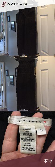 Black lace dress Fits like a M Lace straps  Fits to knee cap Classy dress Studio M Dresses High Low
