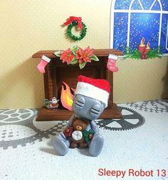 Beary Christmas RobotJoy  Limited Edition by sleepyrobot13 on Etsy