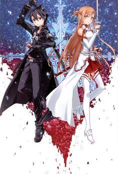 - Kirito and Asuna Schwertkunst Online, Buy Art Online, Sword Art Online Asuna, Chica Anime Manga, Anime Kawaii, Sao Kirito And Asuna, Sword Art Online Wallpaper, Image Manga, Animes Wallpapers