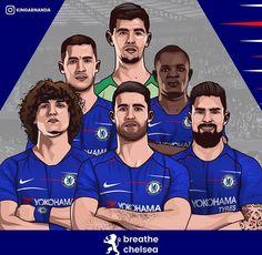 Soccer Drawing, Squad Photos, Best Football Players, Eden Hazard, Chelsea Fc, Art Logo, Blues, Illustrations, Baseball Cards