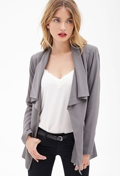 Draped Boyfriend Blazer #F21Contemporary But with a soft t-shirt instead of white