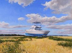 Adrift on Line. oil on panel. Line, 18th, Sketches, Boat, Explore, Photos, Painting, Drawings, Dinghy