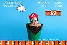 Super Mario Newborn Announcement