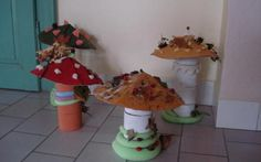 Výtvarná výchova - prostorové vytváření - houby image 5