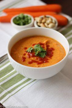 Carrot Coconut Soup | ChezCateyLou.com