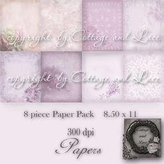 Digital Background  Digital Paper Pack  Digital by CottageAndLace