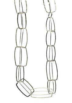 "Paulette Werger: Crystal Structure Neckpiece, Sterling silver adjustable neckpiece. 20"" long."