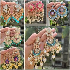 Indian Jewelry Earrings, Fancy Jewellery, Jhumki Earrings, Jewelry Design Earrings, India Jewelry, Girls Earrings, Temple Jewellery, Jewelry Gifts, Jewelery