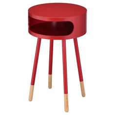 "END TABLE RED NATURAL. 26""H x 16""W x 16""Diameter. Shop Target for Round end & side tables you will love at great low prices. Free shipping on orders $35+ or free same-day pick-up in store."