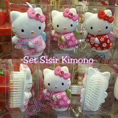 #set #sisir #hellokitty #kimono, isi 3 @ 125.000