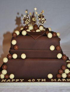 2 Tier Malteser Chocolate Birthday Cake by thecustomcakeshop, via Flickr