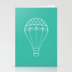 stationery hot air balloon, balloon fiesta inspired