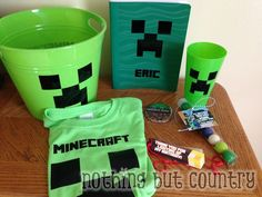Minecraft Birthday Party - Goodie Bags  | NothingButCountry.com