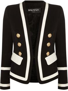 Balmain Cotton-piqué blazer             |  ≼❃≽  @kimludcom