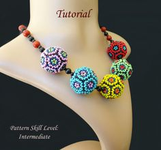DANDELION SEED PUFF beaded bead beading tutorials and patterns