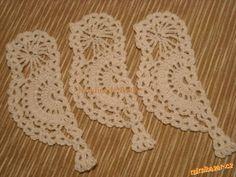 Háčkovaný ptáček Crochet Birds, Thread Crochet, Crochet Motif, Crochet Designs, Crochet Flowers, Crochet Appliques, Crochet Embellishments, Christmas Crochet Patterns, Types Of Yarn