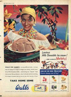 1955 Walls Ice Cream - Milk Chocolate  (UK)