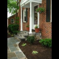 pavers and stone step