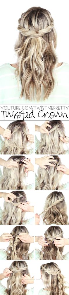 Incredible 10 Easy And Cute Hair Tutorials For Any Occassion. These hairstyles are great for any occasion whether you just want quick and casual or simple yet elegant. Great for women with medium t ..