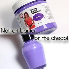 Cheap Liquid Latex Nail Art Barrier via @alllacqueredup