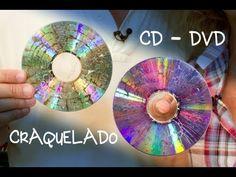 ▶ CD o DVD Craquelado para Bisuteria o Decoracion - YouTube