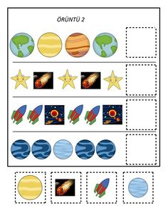 learning space activities for kıds Space Theme Preschool, Space Activities For Kids, Kindergarten Activities, Super Hero Activities, Solar System Activities, Solar System Crafts, Preschool Lesson Plans, Preschool Crafts, Space Solar System
