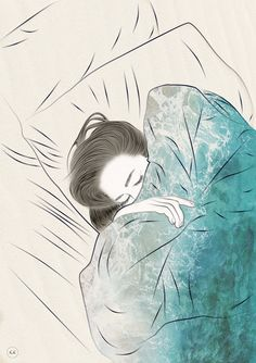 """But better to get hurt by the truth than comforted with a lie."" -Khaled Hosseini artist yet unknown Kunst Inspo, Art Inspo, Art And Illustration, Anime Kunst, Anime Art, Sleeping Drawing, Girl Sleeping, Art Girl, Art Drawings"