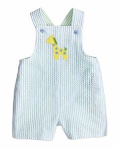 Zoo Stack Striped Short-Playsuit, 12-24 Months  by Florence Eiseman at Bergdorf Goodman.