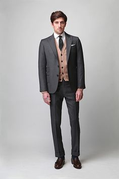 Ovadia & Sons A/W 2012. Great example of how to layer with a suit.