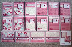 Seongsook's Creations...: OWH S Sketch #176 - You're Always in My Heart & 16 more cards.   One sheet wonder!!!  All instructions given!