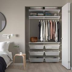 Small Walk In Wardrobe, Small Closets, Small Closet Organization, Closet Shelves, Small Closet Storage, Hallway Storage, Wall Shelves, Ikea Wardrobe Storage, Coat And Shoe Storage