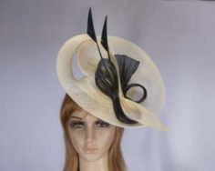 Yellow fascinator hat for Melbourne Cup Kentucky Derby buy online S934YB