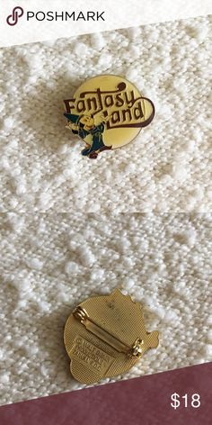 '85 / Fantasy Land Pin Mickey Mouse / Fantasy Land enamel pin. Has locking back. Circa 1985.  *Listed as Urban for search visibility. ⁂ Great bundle item! Two items = 20% off ☒ I do not model or trade, sorry! ❁ Check out my closet for more vintage! Urban Outfitters Jewelry Brooches