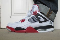 Air Jordan Shoes, Nike Air Jordan 4 On Feet