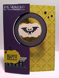 Stamped Silly: Oh BATS! A Halloween Hello!  It's a flippin' spinnin' card!!!  designed by Jen Arkfeld