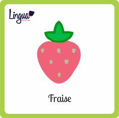 Fresa/ Fraise - Frutas en Francés/ Fruits en Français - Lingua Institute