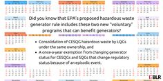 Did you know there are two perks to the new #EPA proposed hazardous waste generator rule??? Check out this infographic and read the story here!