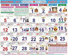 november 2018 calendars in tamil
