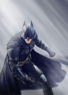 My Batman-Nolan digital painting