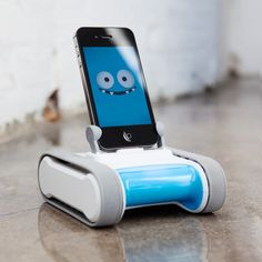 The kids want a puppy for Christmas? Let Romo be their new robotic companion. Attach an iPhone or iPod Touch to the mobile base and Romo comes alive—ready to communicate and interact in surprising ways.