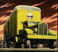 1946 Ad Green Autocar Semi Truck